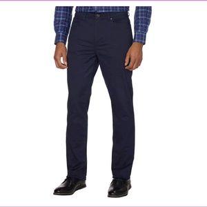 DKNY Mens Bedford Slim Straight Twill Pant NAVY
